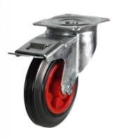 Braked castors 160mm wheel diameter upto 135kg capacity