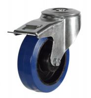 M12 Bolt Hole Braked castor 125mm wheel diameter upto 250kg capacity