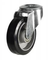 160mm Light Duty Rubber on Aluminium M12 Bolt Hole castors - 350kg capacity