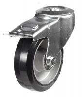 M12 Bolt Hole Braked castors 160mm wheel diameter upto 350kg capacity