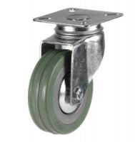 75mm Light Duty Non Marking Rubber Swivel Castors