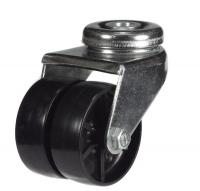 M10 Twin Bolt Hole castor 50mm wheel diameter upto 40kg capacity