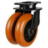 DNGRPTRP Round Profile Polyurethane on Cast Iron Centre Heavy Duty Castors