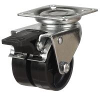 DR2NY Series; Twin Wheel Nylon Castors