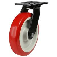 LMHB Series; Medium Duty Fabricated Steel /Poly Nylon Wheel Castor