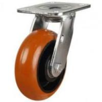 LMHPTRP Series; Fabricated / Round Profile Polyurethane on Cast Iron Centre Castors
