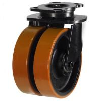 NGR Series;TWIN Heavy Duty Fabricated /Poly Cast Swivel