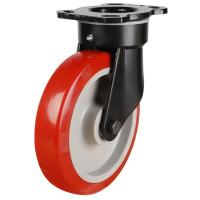 NGR Series; Heavy Duty Fabricated Steel/Poly Nylon Wheel castor
