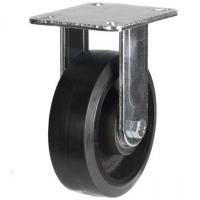 100mm Heavy Duty Rubber on Cast Iron Fixed castors - 220kg capacity