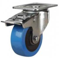 100mm Polyurethane On Nylon Braked Castors