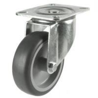 100mm medium duty swivel castor grey rubber wheel
