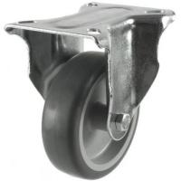 125mm medium duty braked castor grey rubber wheel