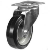 150mm medium duty castor Elastic Rubber On Aluminium wheel