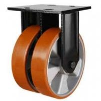 150mm Polyurethane On Aluminium Centre Twin Wheel Fixed Castor