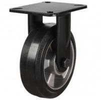 200mm Heavy Duty Elastic Rubber On Aluminium Centre Fixed Castors