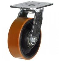 200mm Heavy Duty Polyurethane on Cast Iron Swivel castors - 500kg capacity