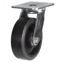 200mm Heavy Duty Rubber on Cast Iron Swivel castors - 500kg capacity