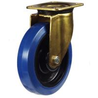 200mm Heavy Duty Rubber on Nylon Swivel castors - 350kg capacity