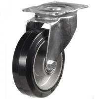 200mm medium duty swivel castor elastic rubber ally wheel