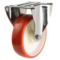 80mm Light Duty Poly Nylon Fixed Castor - 150kg capacity