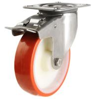 80mm medium duty braked castor poly/nylon wheel