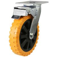 Braked castors 150mm wheel diameter upto 350kg capacity