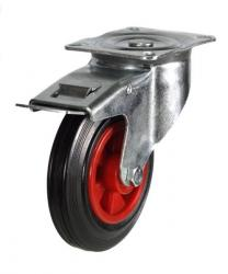 Braked castors 80mm wheel diameter upto 60kg capacity