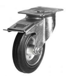 Braked castor 80mm wheel diameter upto 60kg capacity