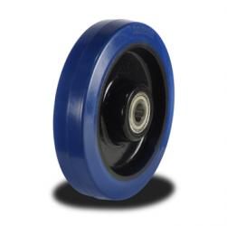 200mm  Wheel with Blue Elastic Rubber on a Nylon Centre 400Kg Capacity