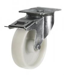 Braked castor 80mm wheel diameter upto 200kg capacity