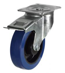 Braked castor 125mm wheel diameter upto 250kg capacity