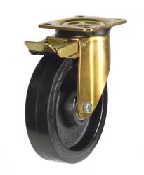 Braked castors 200mm wheel diameter upto 500kg capacity