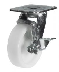 Braked castors 125mm wheel diameter upto 350kg capacity