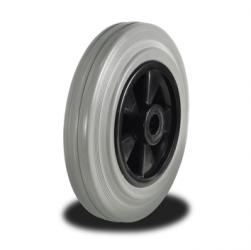 80mm Wheel with Non Marking Rubber on Nylon Centre 65Kg Capacity