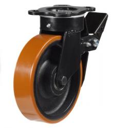 Braked castor 125mm wheel diameter upto 550kg capacity