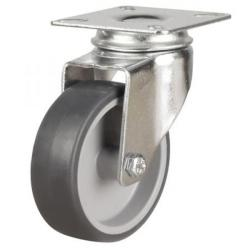 100mm Light Duty Rubber Swivel Castors