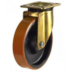150mm Heavy Duty Polyurethane on Cast Iron Swivel castors - 700kg capacity