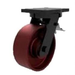250mm Extra Heavy Duty Ductile Iron Braked Castors