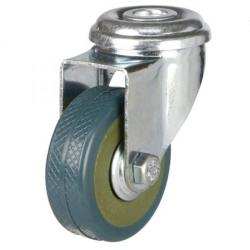 50mm Light Duty PVC Bolt Hole Castor