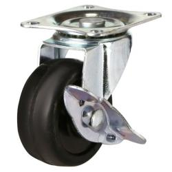 50mm Light Duty Solid Rubber Braked Castor