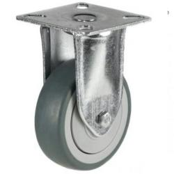 75mm Light Duty Non Marking Fixed Rubber Castors