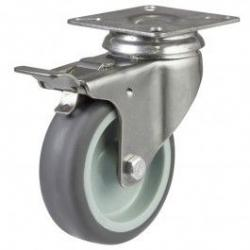 75mm Light Duty Nylon Braked Castors