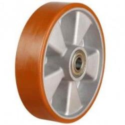 80mm Medium Duty Polyurethane On Aluminium Centre Castors Wheel