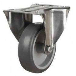 80mm Synthetic Non-Marking Rubber Fixed Castors