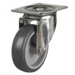 80mm Synthetic Non-Marking Rubber Swivel Castors