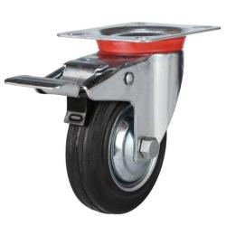 Braked castor 100mm wheel diameter upto 70 kg capacity