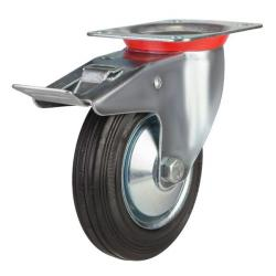 Braked castor 160mm wheel diameter upto 150 kg capacity