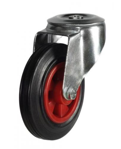 M12 Bolt Hole castors 160mm wheel diameter upto 135kg capacity