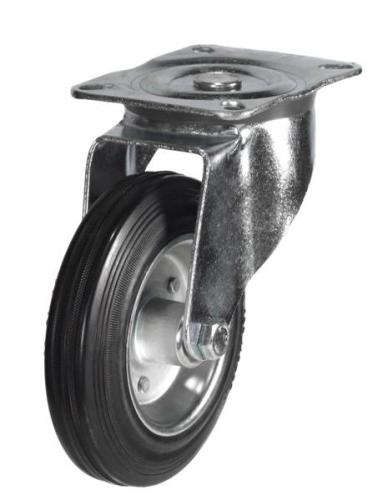 100mm medium duty swivel castor rubber wheel