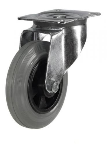 Swivel castor 160mm wheel diameter upto 135kg capacity